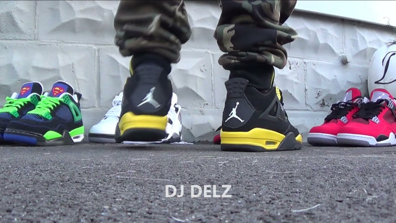 Air Jordan Thunder 4 Shoes On Feet