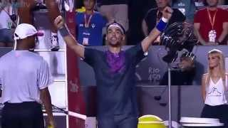 What a match point! fabio fognini beats rafa nadal on sensational point at the rio open - first time has lost in semi-finals clay ...