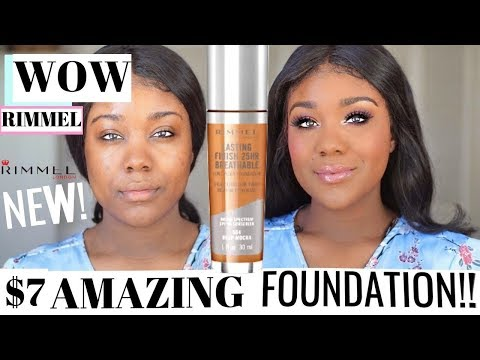 OMG!? NEW BEST DRUGSTORE FOUNDATION?! $7 Rimmel London Long Wear Makeup Oily Skin - Rose Kimberly