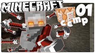 Minecraft 1.9 | SKELETON MACHINE GUN BOW | Custom Command Mod Pack #1