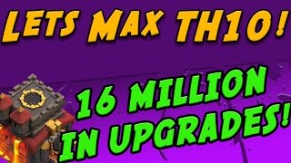 Clash of Clans: 4 Max Wall Upgrades - 16 Million Resources! Lets Max TH10! #15