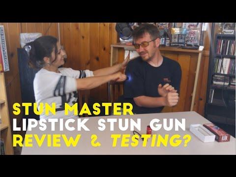 Femme Defenses tests the Electra Lipstick Stun Gun on Tim