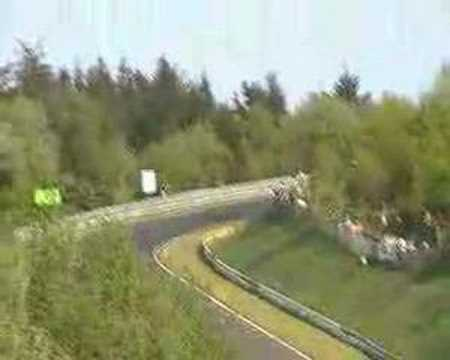 Nuerburgring ( Norschleife )  F1 , Porsche Crash
