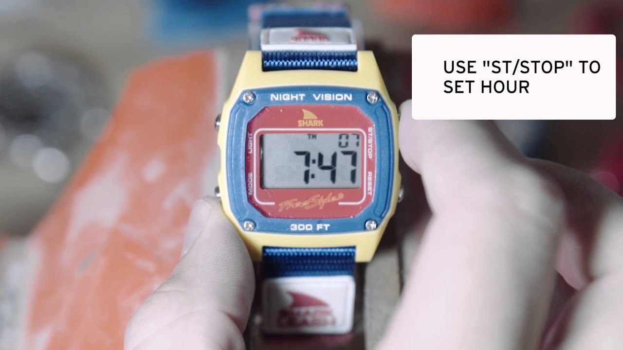 69295f0bd4f How to Set a Freestyle Shark Watch - YouTube