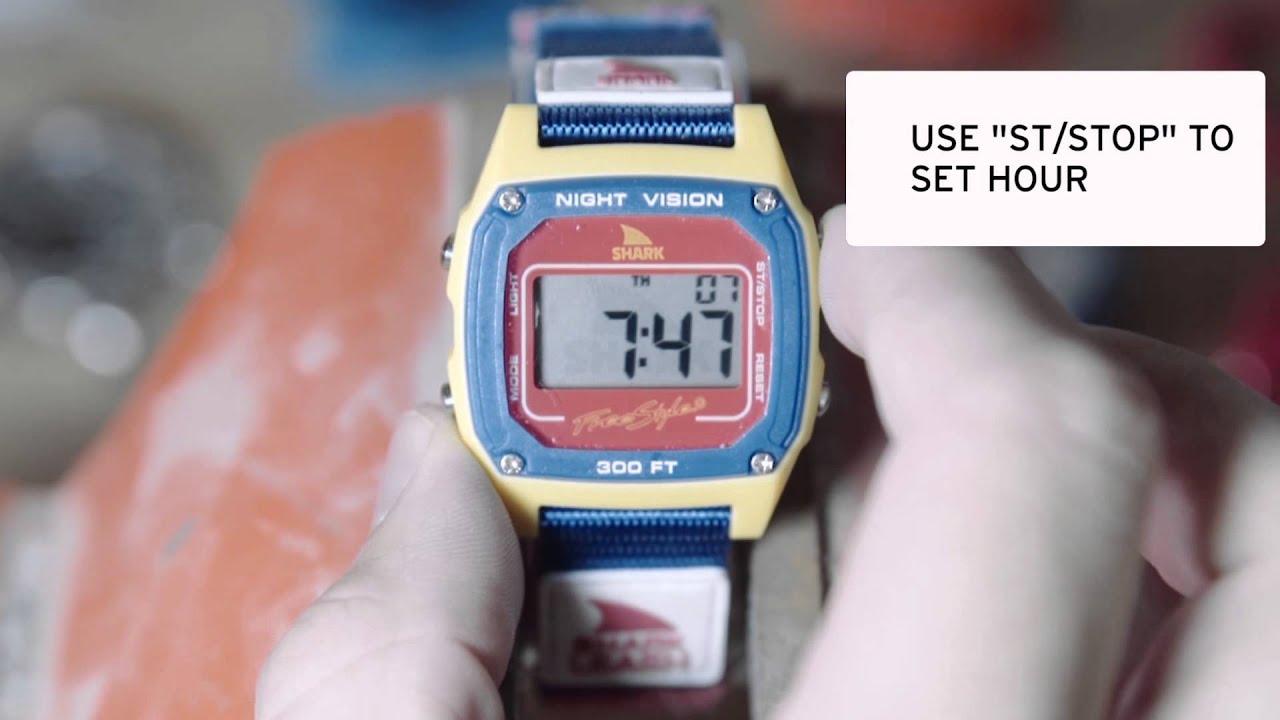 6310bd4e1 How to Set a Freestyle Shark Watch - YouTube