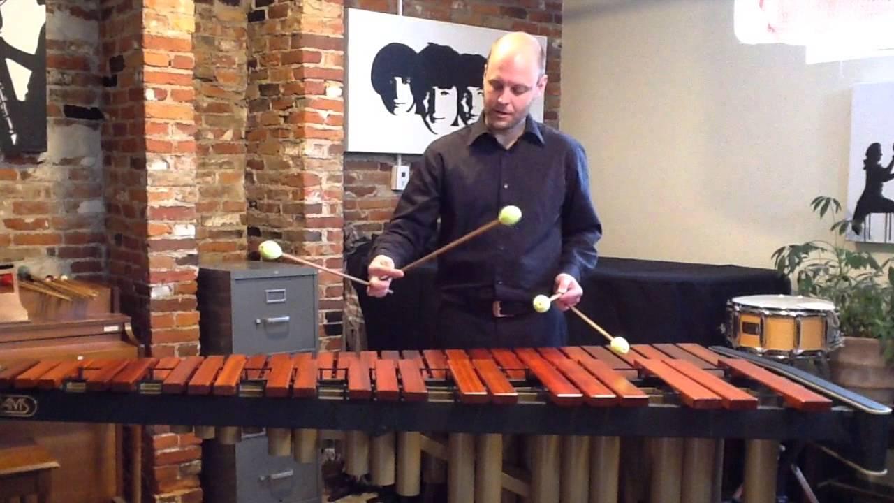 Percussion: Marimba Four Mallet Technique - YouTube