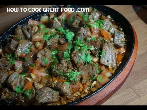 Sizzling Garlic Beef Recipe