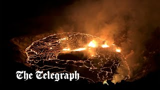 video: Watch: Visitors flock to see bubbling lava at summit of Hawaii's Kīlauea volcano