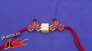DIY Beads Rakhi  for Raksha Bandhan (Wrist Belt) - JK Arts 048
