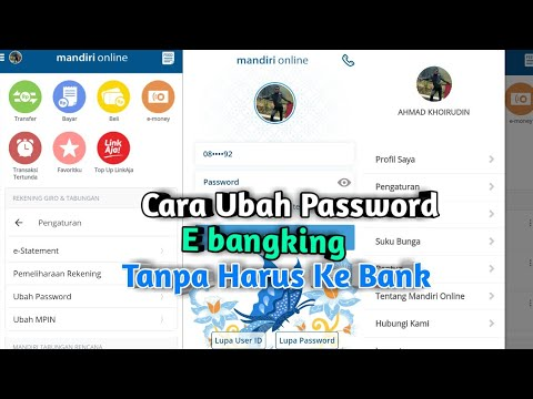 Cara Mengubah Password Mandiri Online Youtube