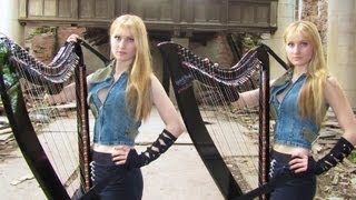 LADY GAGA - Judas (Harp Twins electric) Camille and Kennerly