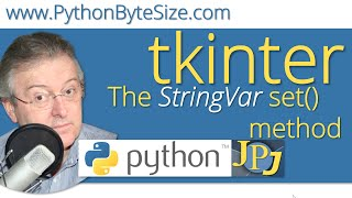 The Python tkinter StringVar set() method