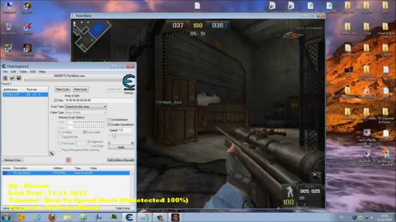 [Review CE All PB] Tutorial : How To Speedhacker With Cheat Engine 6 2  (Undetected 100%) Test 2012