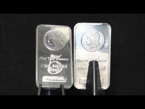 American Morgan 5 Oz Silver Trade Bar 999.0