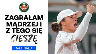 Zobacz co Iga Świątek powiedziała po awansie do półfinału French Open!
