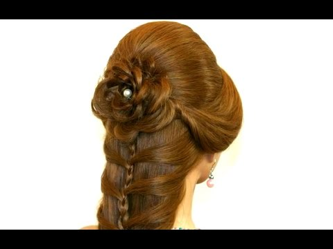 Cute Prom Hairstyle For Long Hair Hair Made Rose Youtube