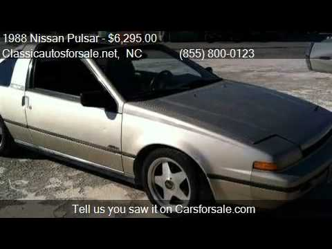 1988 nissan pulsar nx for sale in nationwide nc 27603 at. Black Bedroom Furniture Sets. Home Design Ideas
