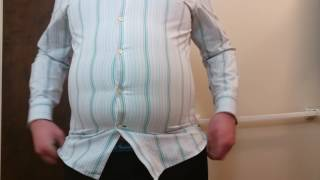 Fatty struggling to fit into tight clothes