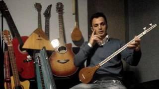 BASIC Setar Lesson Part 4-آموزش سه تار قسمت چهارم-بیت اول آهنگ مرغ سحر