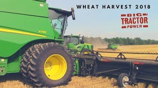 Wheat Harvest 2018: John Deere S790 & Kinze 1105
