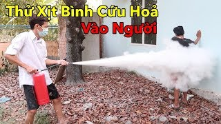 Lâm Vlog - Thử Dùng Bình Cứu Hỏa Xịt Vào Người và Cái Kết | Fire Extinguisher