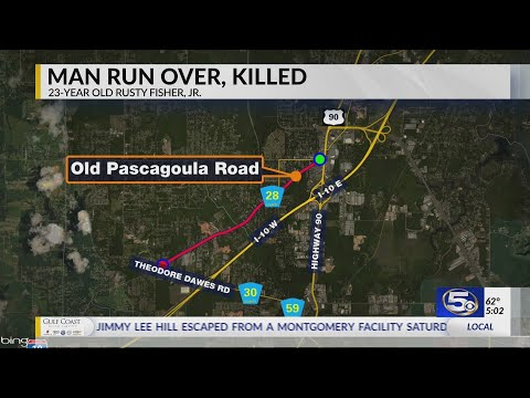 VIDEO: Police: Mobile man dies after being run over by vehicle