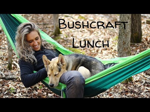 Bushcraft Lunch in the Woods with my Dog | Fire Prep and Tick Prevention Tips |