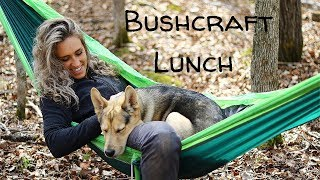 Bushcraft Lunch in the Woods with my Dog   Fire Prep and Tick Prevention Tips  