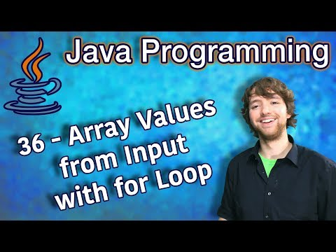 java-programming-tutorial-36---array-values-from-input-with-for-loop