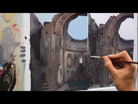 cómo-pintar-un-muro.-clase-de-pintura-al-óleo.