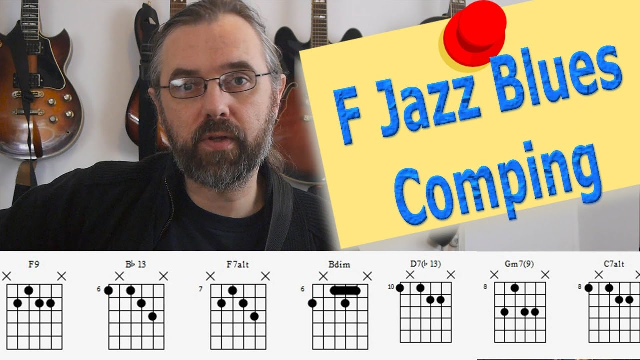 F Jazz Blues Comping - Jazz Chords and Concepts - Guitar Lesson