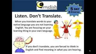 Day 2: Learn to Speak & Understand English Fast E-Course
