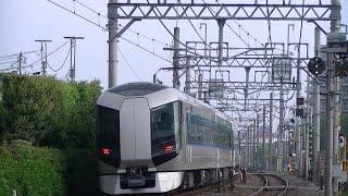 【東武鉄道】500系リバティ同士のすれ違い(少し遠くですが。。。)