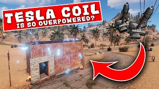 *NEW* TESLA COIL vs ANGRY CLAN - A Rust Story