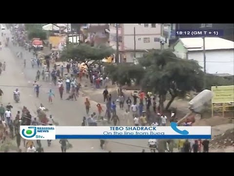 STV BILINGUAL REGIONAL NEWS 06:00 PM - (FRIDAY of RIOTS in the N-W and S-W) - 22 Septembre 2017