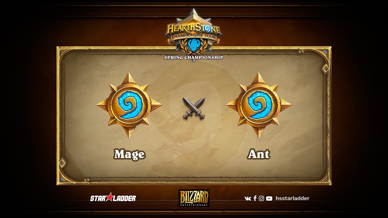 Mage vs Ant, 1/4, Hearthstone Championship Tour Spring 2017