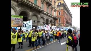 Italian People Protesting against Chemtrails