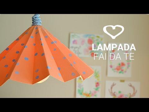 Lampadario Di Carta Velina : Tutorial: come realizzare una lampada di carta fai da te la