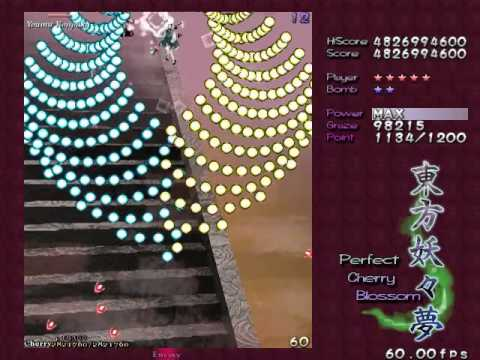 Touhou 7: Perfect Cherry Blossom - 10,180,331,240 - Marisa A - Lunatic TAS