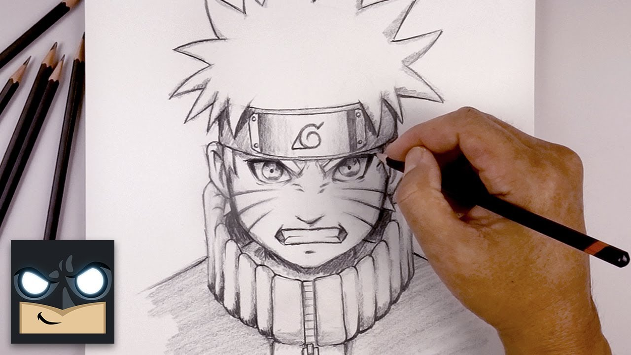How To Draw Naruto Sketch Tutorial Youtube