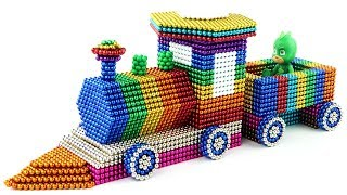 DIY - How To Make Rainbow Train With Magnetic Balls (100% Satisfying and Relaxing)