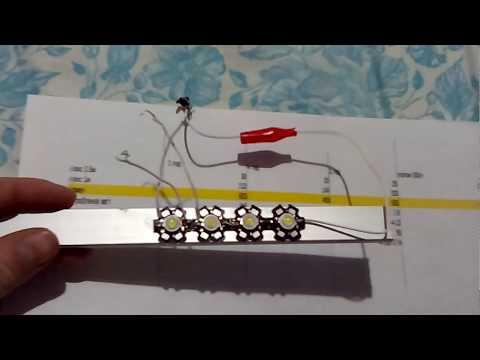 Таблица расчета количества светодиодов и освещения для аквариума