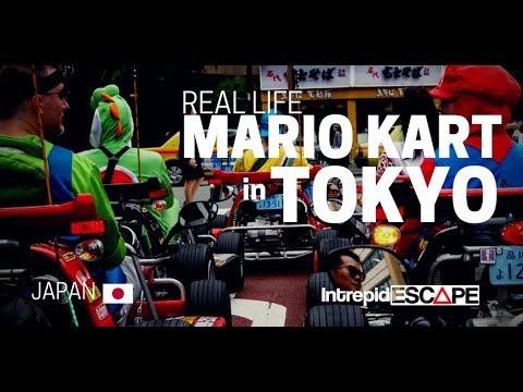 Real life Mario Kart on the streets of Tokyo, Japan