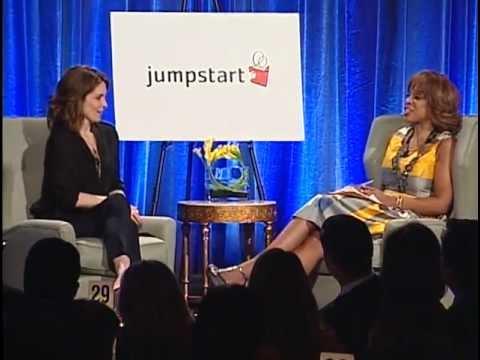 Tina Fey & Gayle King at Jumpstart's Scribbles to Novels 2012