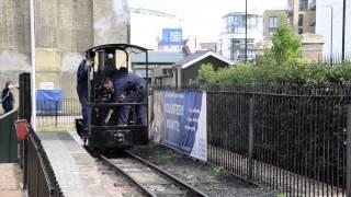 ロンドンにある水と蒸気の博物館の2フィート(610mm)鉄道です。蒸気機関...