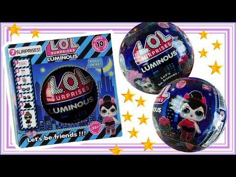 LOL Surprise Luminous Fake • Seria 10 • Laleczka świecąca w ciemności • Granatowa Kula • openbox