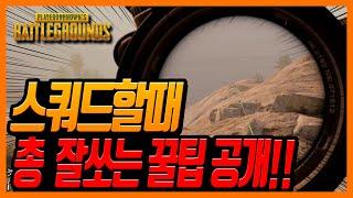배틀그라운드 배린이들이 스쿼드 할때 총 잘쏘는 꿀팁 공개!!!