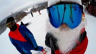 Дед мороз на лыжах. Степаново 30.12.16