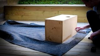 How to carpet a subwoofer box