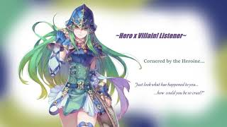 Hero x Villain!Listener~ Cornered by the Heroine...